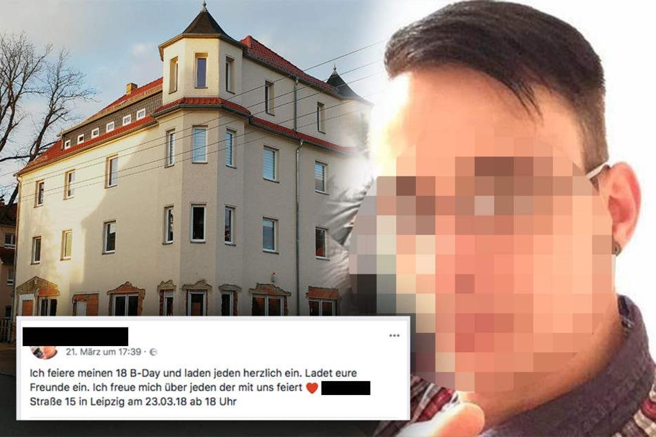 In diesem Haus in Leipzig-Wiederitzsch sollte die große Sause steigen. Glücklicherweise glaubten die meisten Facebook-User nicht, dass die Einladung ernst gemeint war.