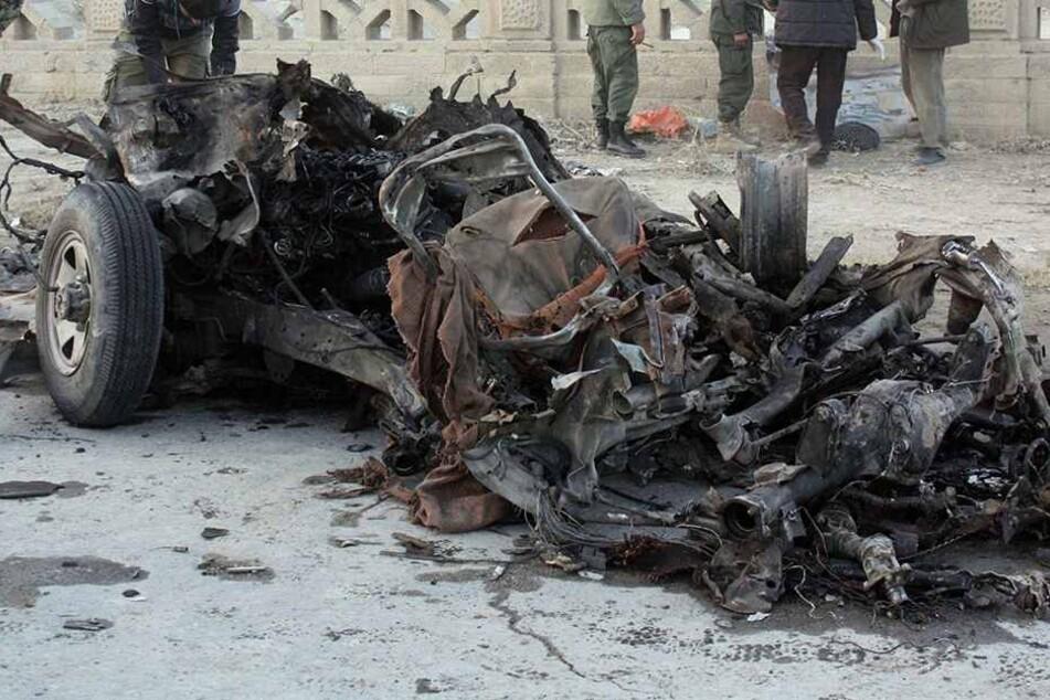 Ein mit Sprengstoff gefülltes Auto wurde zur Explosion gebracht (Archivbild).