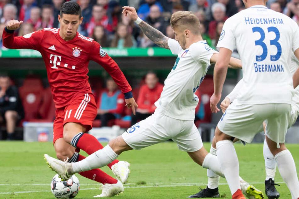 Der FC Bayern München tat sich im DFB-Pokal gegen den 1. FC Heidenheim schwer.