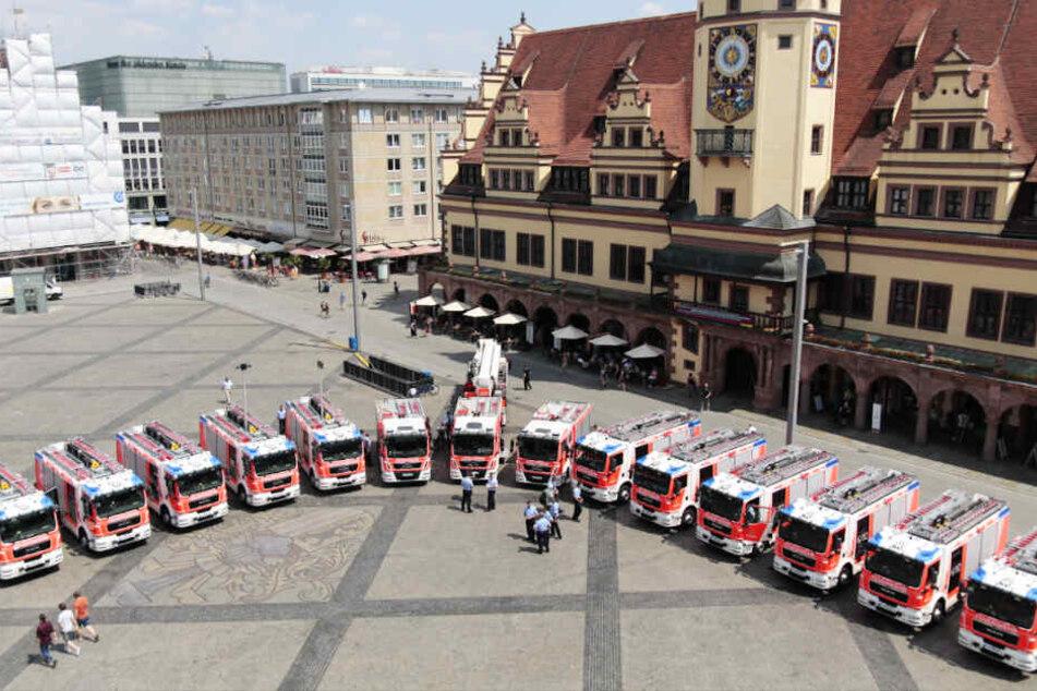 Leipzig: Diese Brummis sollen Leipziger Feuerwehr im Kampf gegen die Flammen helfen