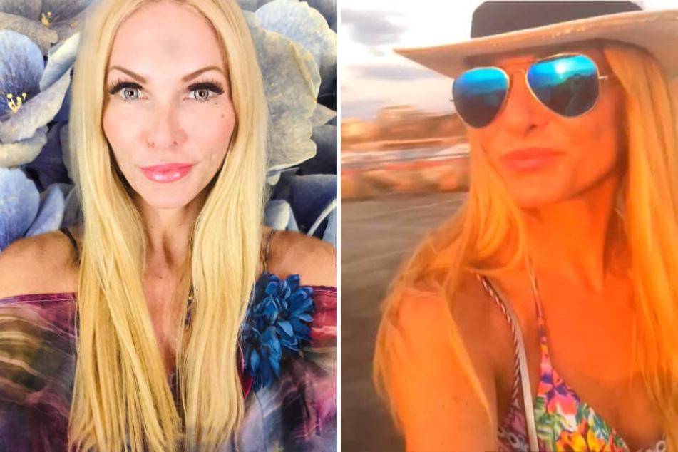 """Bestens gelaunt: Als """"sunsetjunkie"""" kommt Sonya Kraus im Urlaub in Tel Aviv gerade voll auf ihre Kosten."""