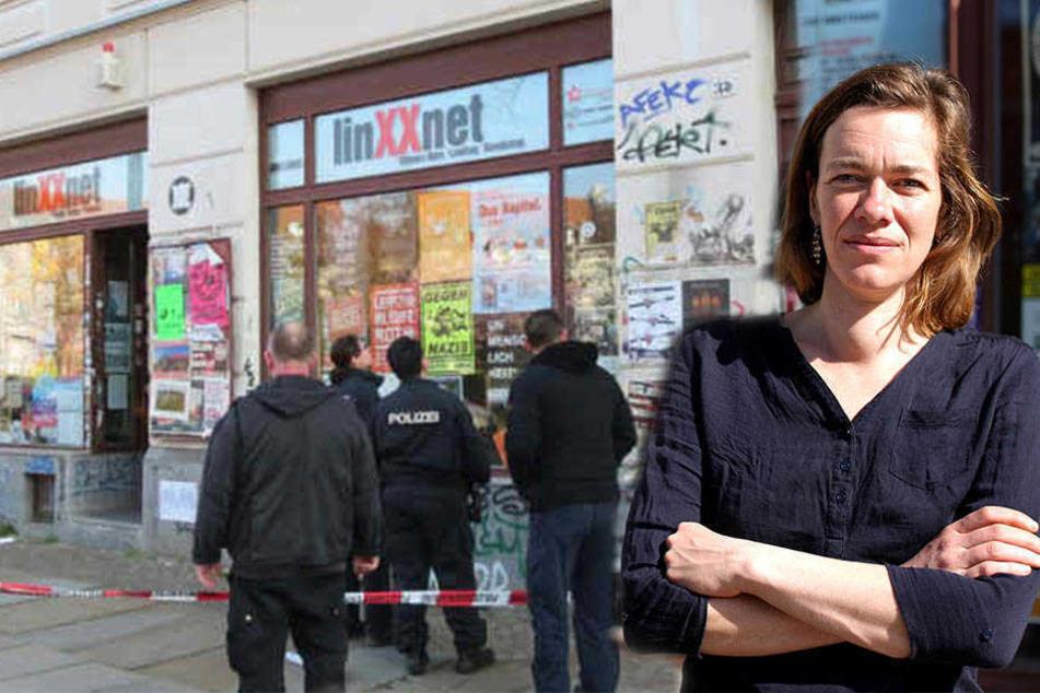 """Linken-Abgeordnete Juliane Nagel (39) hält die Debatte für """"absurden politischen Wind""""."""
