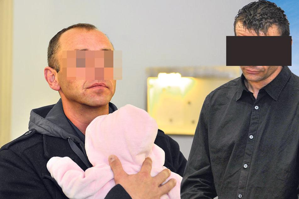 Thilo S. (37) ist der Papa von Susann M.s Baby. - Nach der Messerattacke will Ronny M. (39) mit seiner Ex noch mal von vorn anfangen (re.).