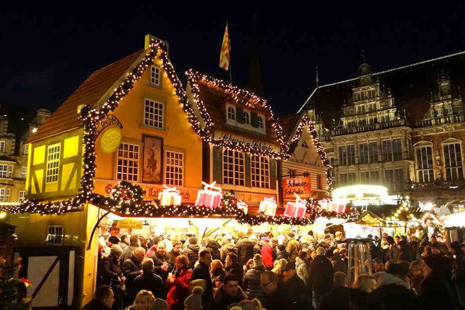 Verwies den Striezelmarkt auf den zweiten Platz: der Bremer Weihnachtsmarkt.