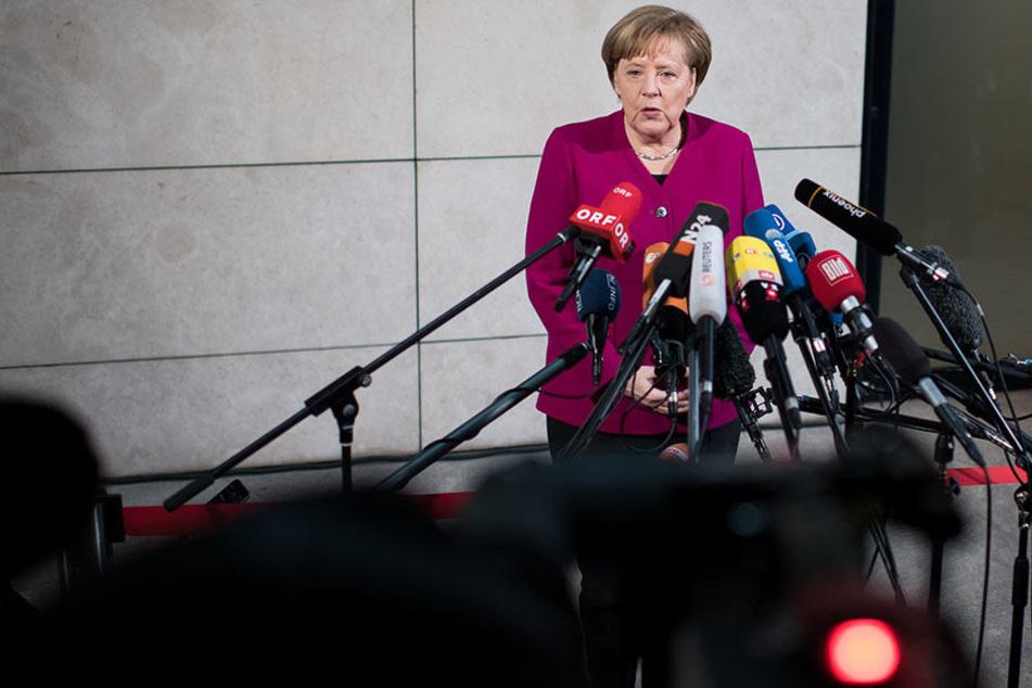 Die Kanzlerin äußert sich zum Start der Sondierungsgespräche.