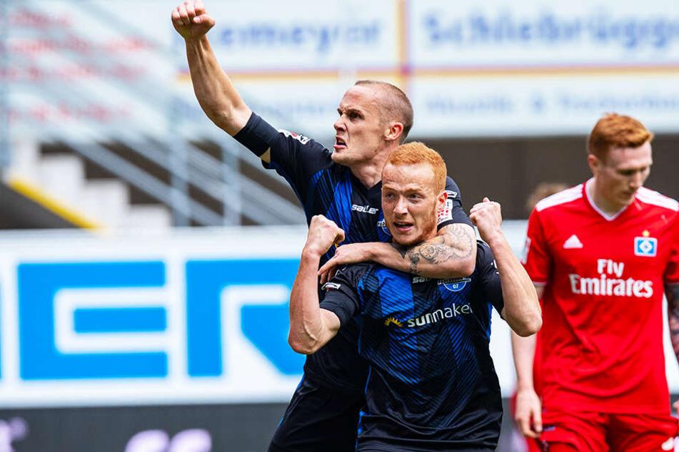Der SC Paderborn 07 führte den Hamburger SV im brisanten Top-Duell stellenweise vor.