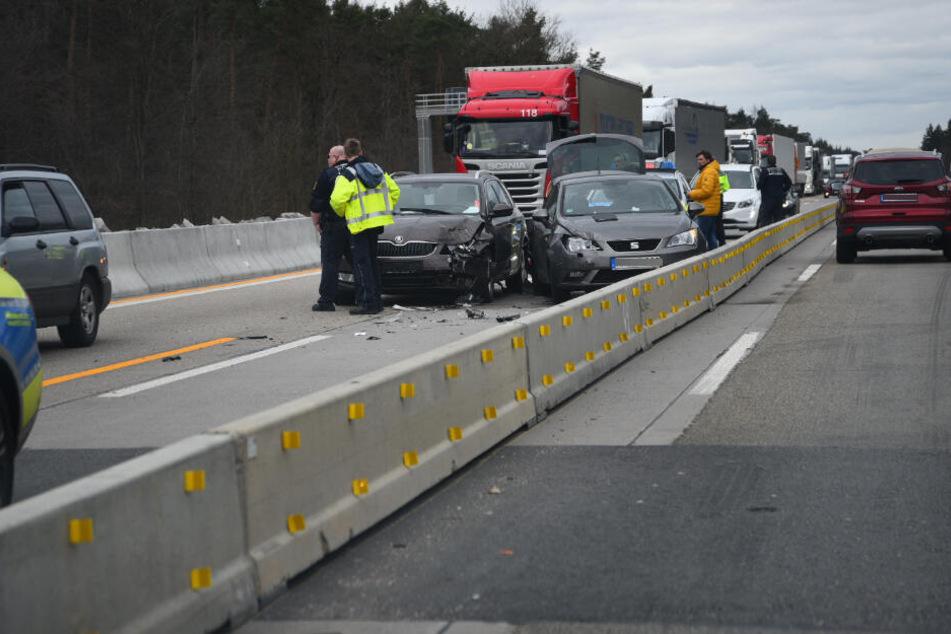 Heftiger Stau nach Unfall auf der A5