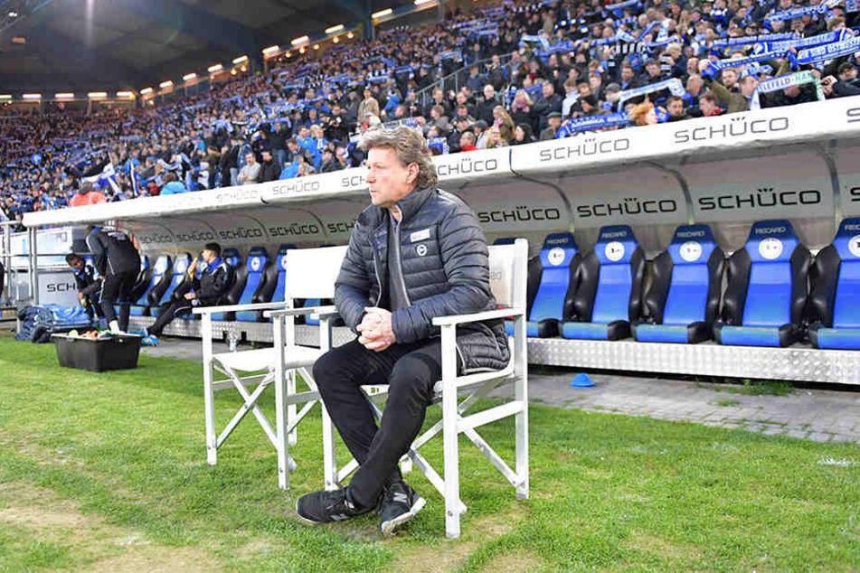 Ob Jeff Saibene im kommenden Jahr Trainer des DSC Arminia sein wird, ist bis dato ungewiss.