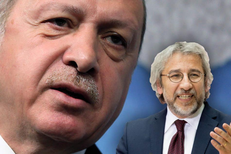 Can Dündar hat keine Angst vor Erdogan und will ihm die Meinung geigen. (Bildmontage)