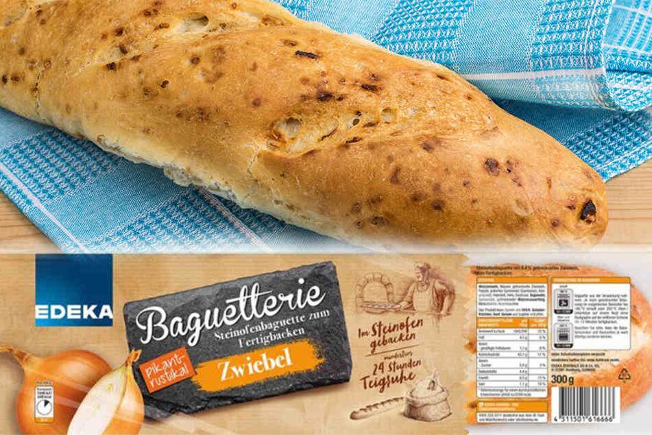 """Der Rückruf betrifft """"Edeka Baguetterie Steinofenbaguette zum Fertigbacken"""" in der Geschmacksrichtung """"Zwiebel"""""""