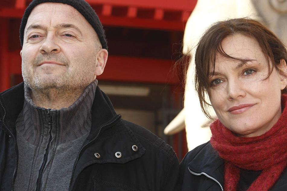 """""""Ein Starkes Team"""" - die  50. Folge hieß """"Im Netz der Spinne"""" (2011). Florian Martens und Maja Maranow (†54)."""