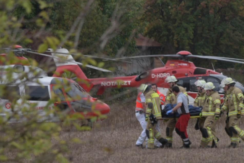 Fünf Rettungshubschrauber waren im Einsatz infolge des Unfalls.