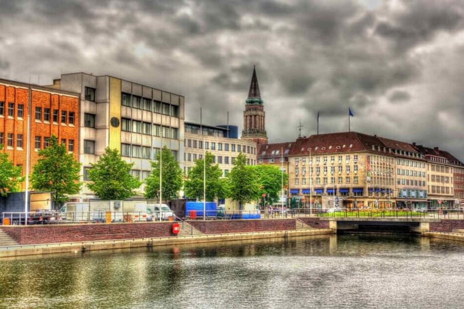 Blick auf das Stadtzentrum von Kiel.