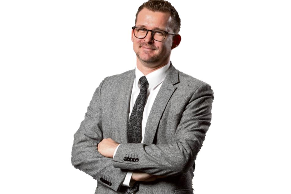 Verlässt Dresden, um in Heidelberg Klimabürgermeister zu werden: Raoul Schmidt-Lamontain (43, Grüne).