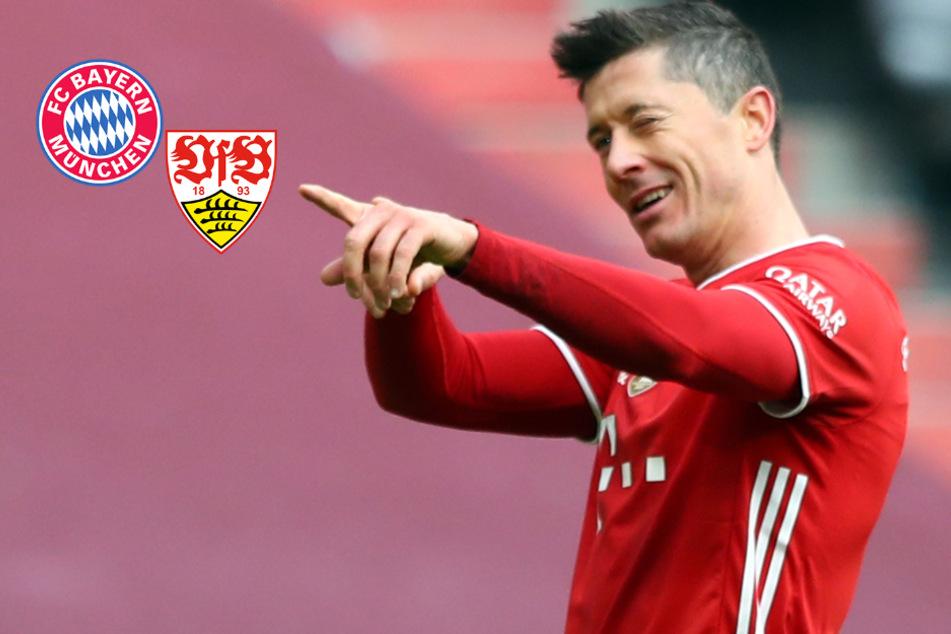 Lewandowski-Show! Bayern zerlegt VfB trotz frühem Davies-Platzverweis