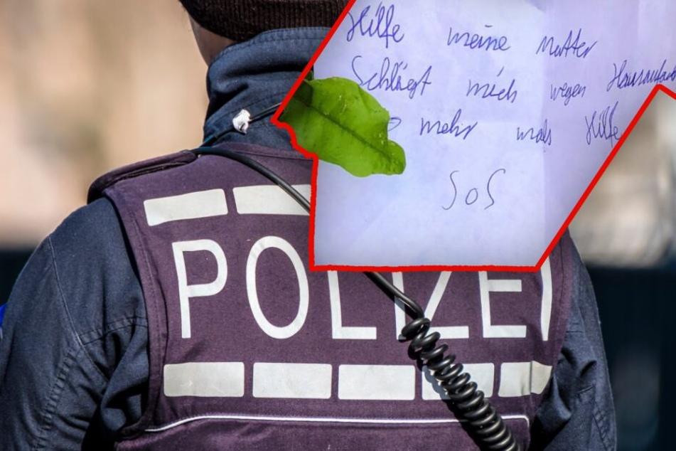 """""""Hilfe, meine Mutter schlägt mich"""": Polizeieinsatz wegen verdächtigen Zettels"""