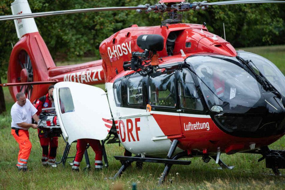 Dresden: Siebenjährige stürzt von Dach: Hubschrauber muss Mädchen in Klinik fliegen