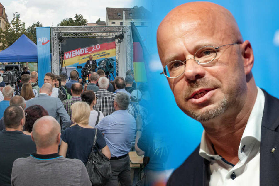 Andreas Kalbitz spricht beim Landesparteitag der AfD.