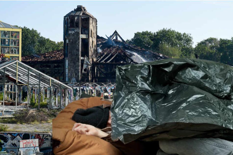 Schreckensfund in der Nacht: Obdachloser liegt tot im ehemaligen Erlebnisbad