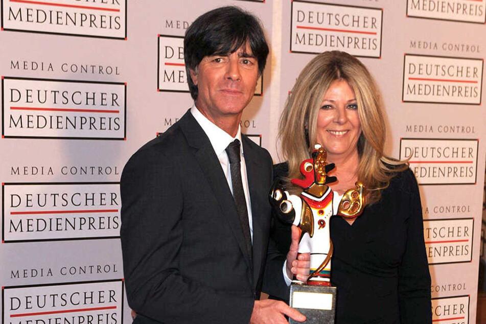 Joachim und Daniela Löw beim Deutschen Medienpreis.