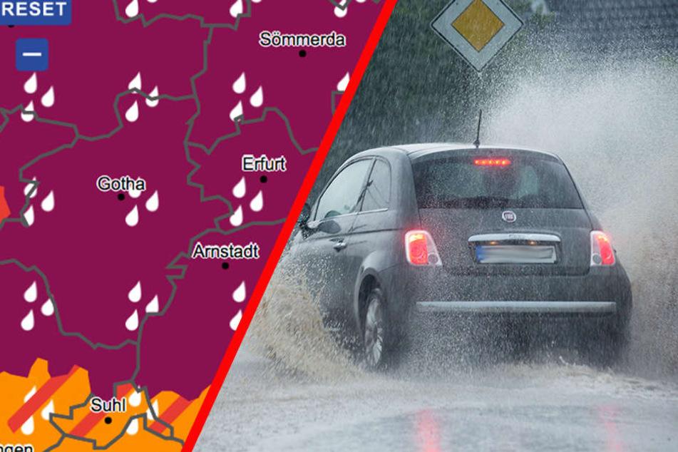 Warnstufe 4! Dauerregen und Hochwasser-Alarm in Thüringen