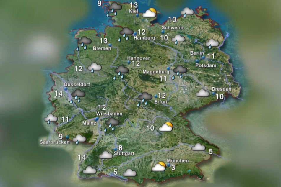Die Temperaturen vom Sonntagvormittag. Winter-Kälte sieht anders aus.