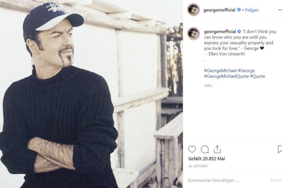 So präsentiert George Michaels Management ihn derzeit auf Instagram.