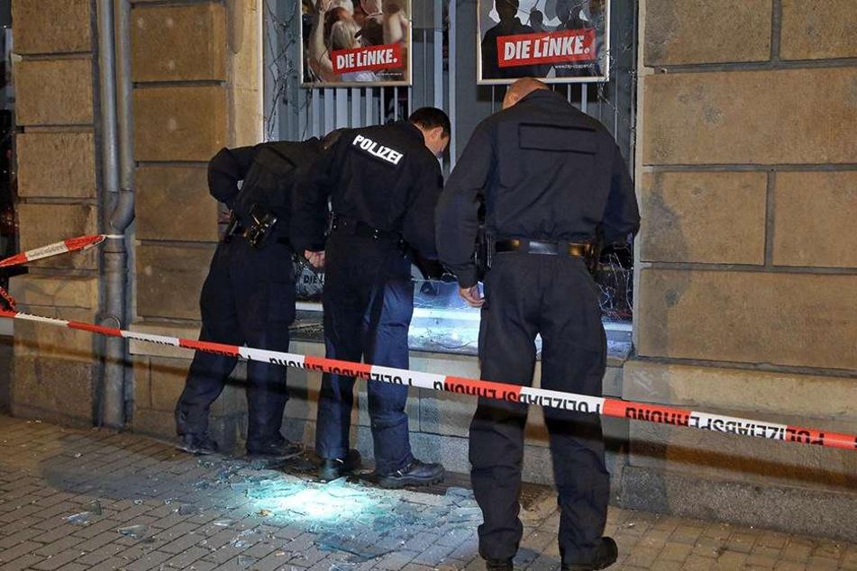 Auch der Anschlag auf das Büro der Die Linke in Freital, im September 2015, soll auf das Konto der Rechtsterroristen gehen.