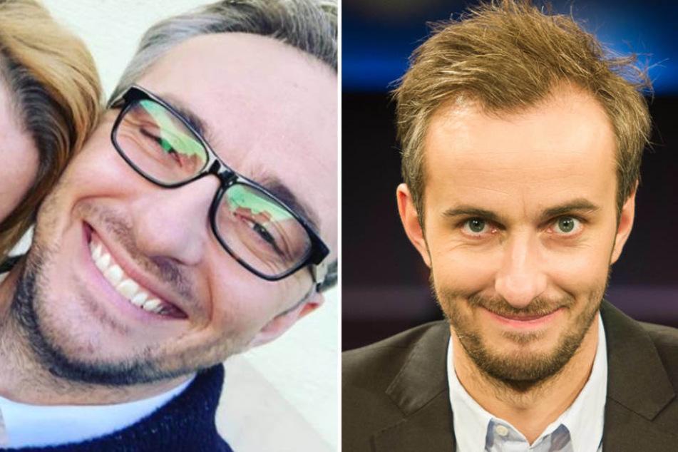 Böhmermann grau und mit Brille auf Instragram (l.) und so, wie man ihn (eigentlich aus dem TV kennt.