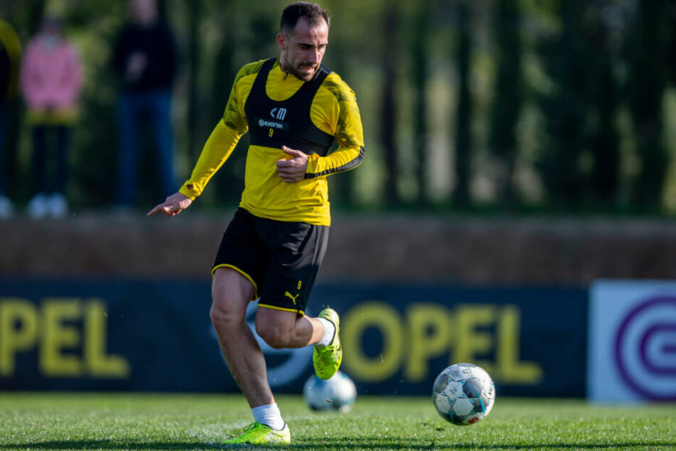 Momentan nur in den Trainings gefragt beim BVB: Paco Alcacer.