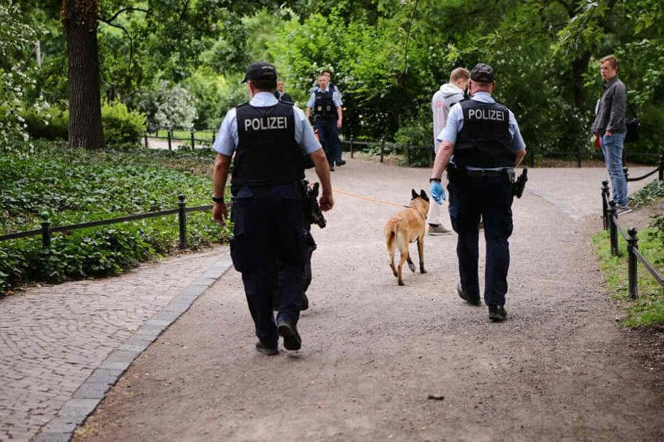 Auch Suchhund Cube war an der Razzia beteiligt.
