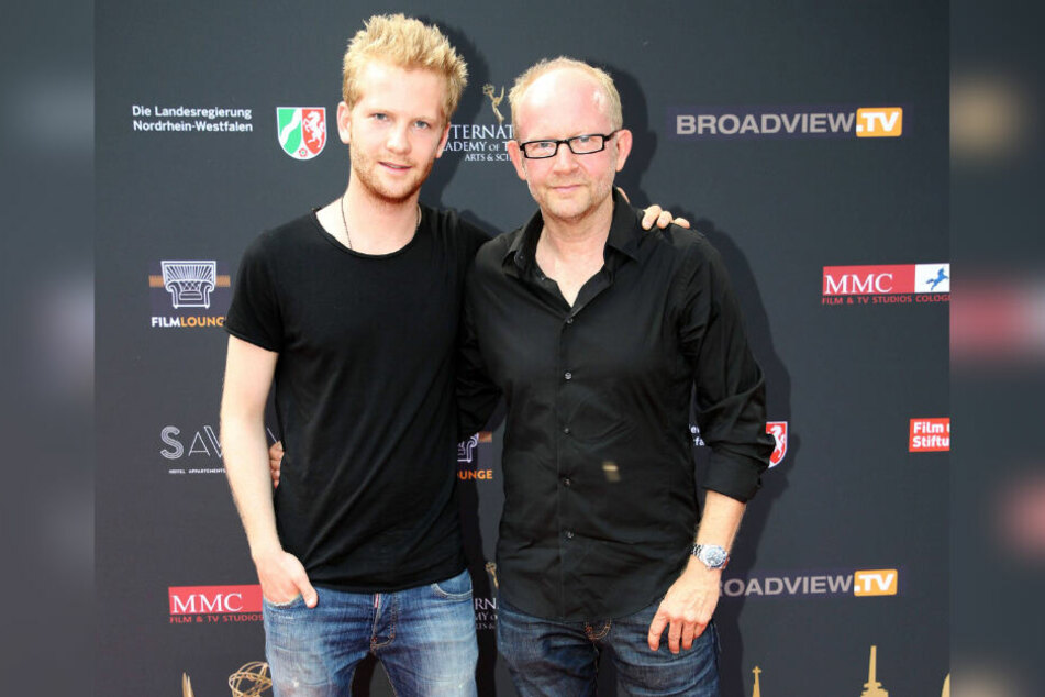 """Dieter Falks (60, r.) Sohn Paul (23, l.) hat Johns Song """"Anymore"""" produziert. Natürlich hörte auch der Papa drüber und gab grünes Licht."""