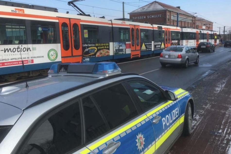 Die Polizei musste zur Unfallstelle kommen.