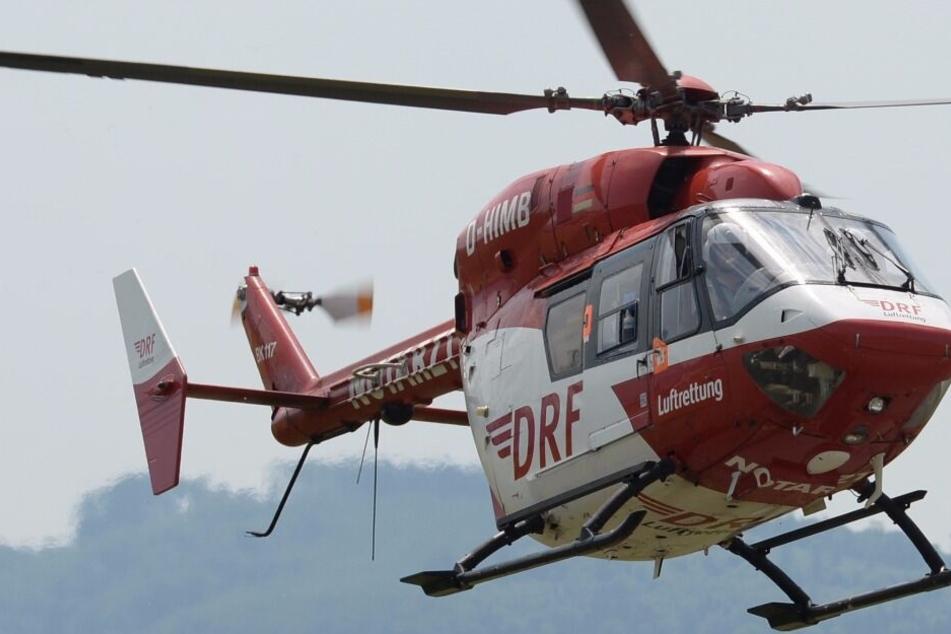 Unfall beim Schlittenfahren: Mädchen (5) muss in Klinik geflogen werden