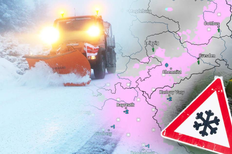 Zieht Euch warm an! Schnee und Sturm in Sachsen erwartet