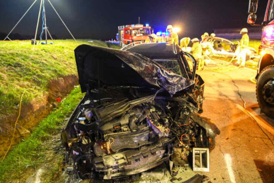 Der Fahrer dieses zerstörten Volkswagens hatte den tödlichen Crash verursacht.