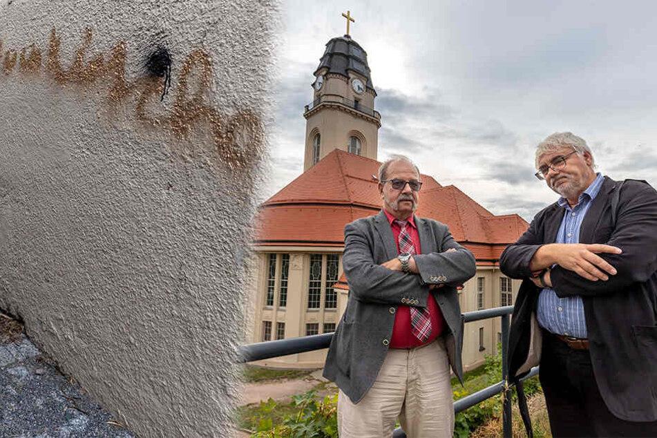 Superintendent entsetzt: Für Millionen Euro sanierte Auer Kirche beschmiert