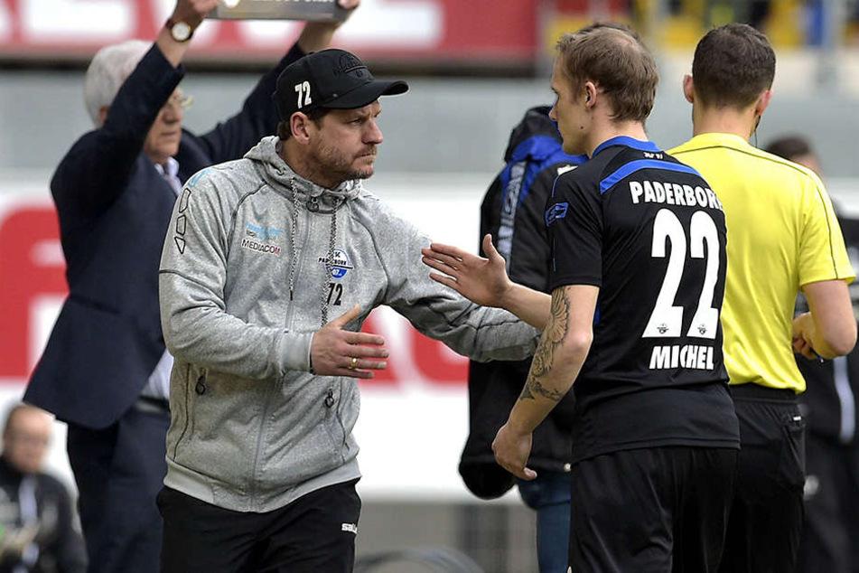 SCP-Trainer Steffen Baumgart hat Sven Michel gegen Zwickau zum Comeback verholfen.