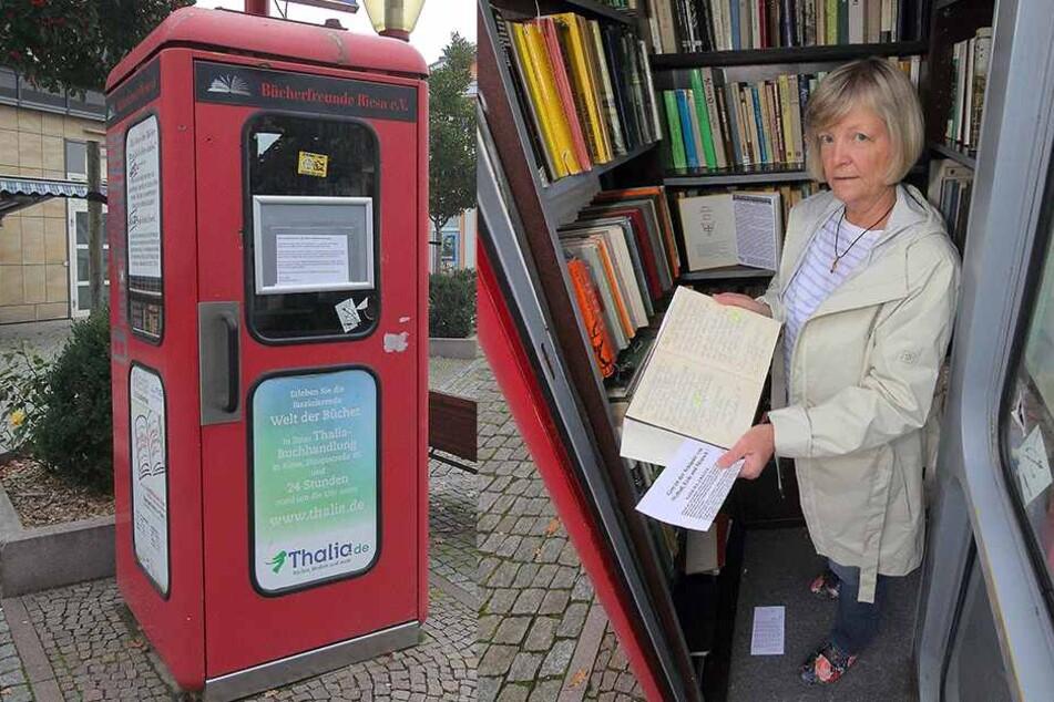 Unheimlicher Besucher missbraucht Bücher-Zelle für religiöse Botschaften