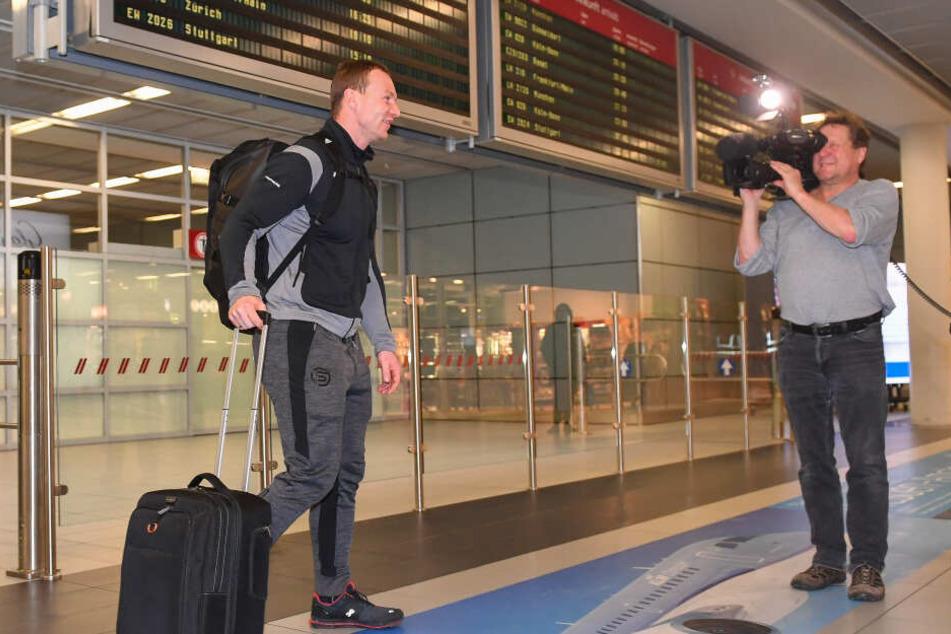 Kam nur mit Handgepäck an: Doppel-Weltmeister Francesco Friedrich.