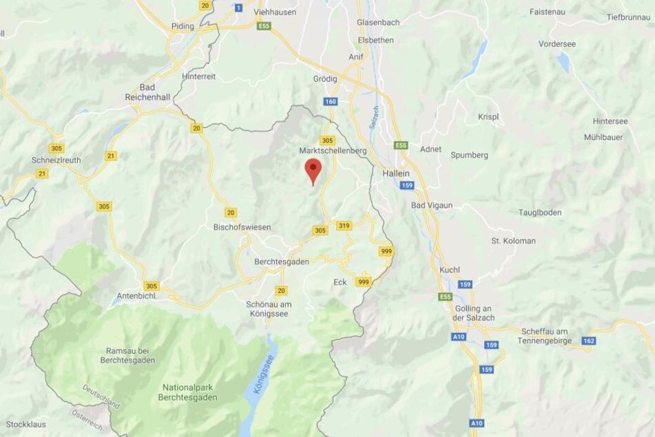 In den Alpen ist es bei Marktschellenberg im Freistaat Bayern zu einem Unglück gekommen.