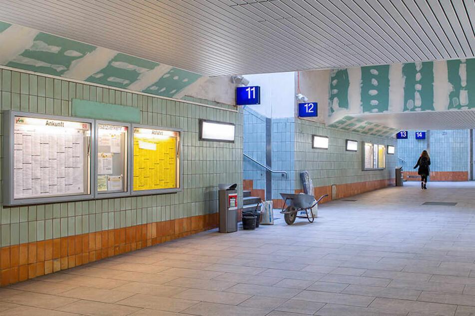 Die Fußgängerunterführung im Hauptbahnhof Chemnitz wird bis zur Dresdner Straße verlängert. Allerdings für 770.000 Euro mehr als vorher eingeplant.