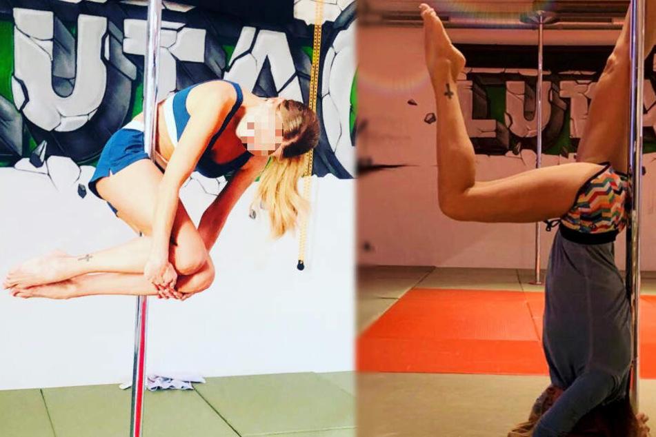 Welcher TV-Star räkelt sich denn hier so sexy an der Poledance-Stange?