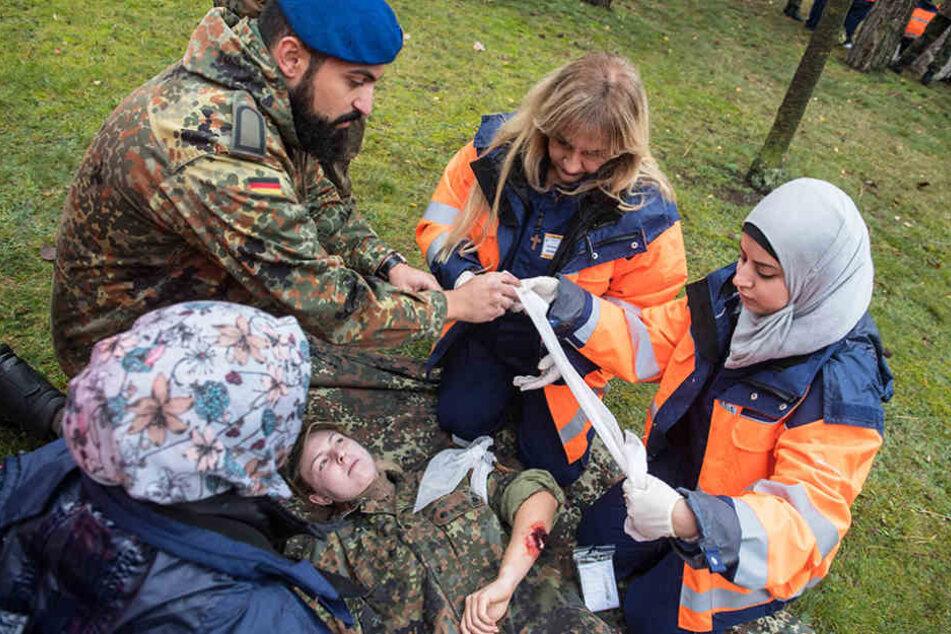 Unter anderem gehörten Erste Hilfe und Notfallversorgung zum Unterricht.