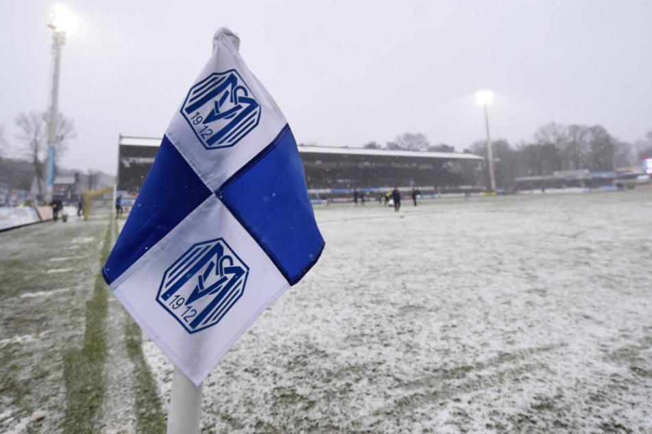 So sah der Platz in Meppen Anfang Februar aus, als SVM gegen Hansa Rostock spielte.