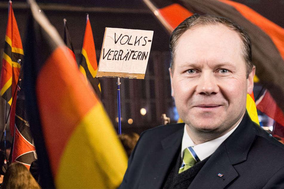 """Sächsischer AfD-Boss Droese: """"Pegida ist für uns sehr wichtig!"""""""