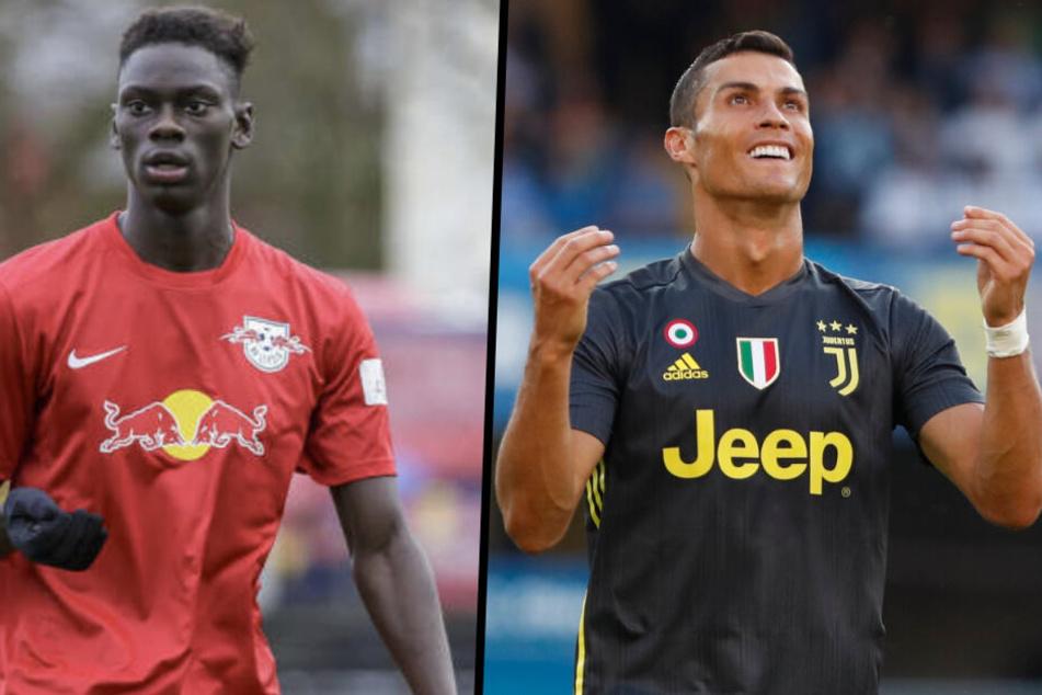 Trainingskollegen: Idrissa Toure durfte schon mit der Profi-Mannschaft von Juventus Turin mit trainieren. Unter anderem traf er auf Cristiano Ronaldo.
