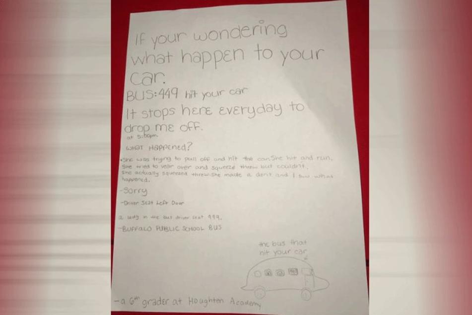 So sah der Brief der Schülerin aus.