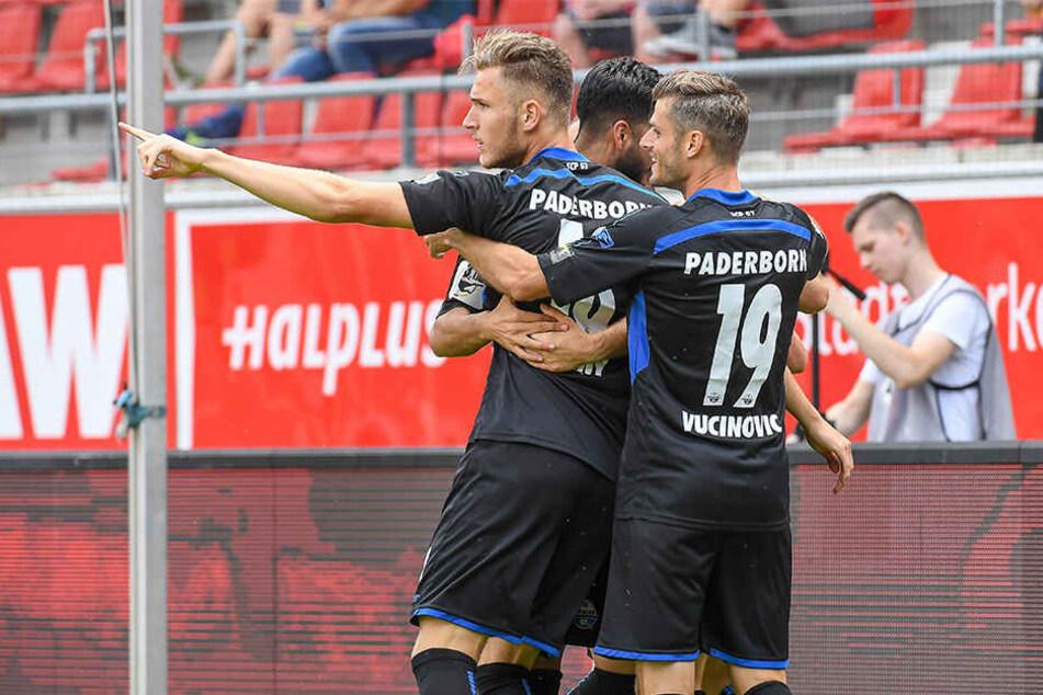 Da sah alles noch nach Sieg aus: Der SCP feierte den Elfmeter zum zwischenzeitlichen 2:1.