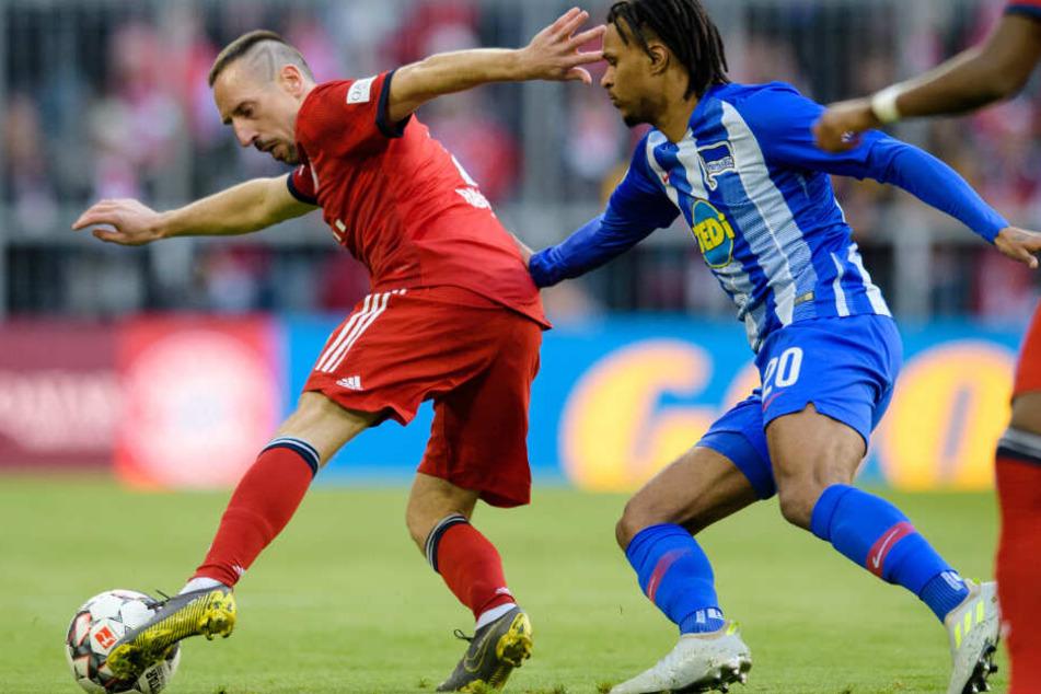 Franck Ribéry (l.) durfte beim FC Bayern gegen Hertha BSC von Beginn an mitwirken.